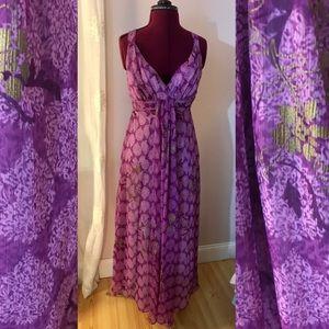 Beautiful purple maxi dress